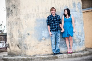A cute young couple enjoying each other and their engagement session with Lisa Richmond Photography in Sacramento, CA